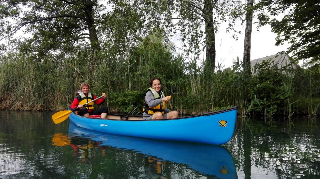 Campingurlaub Ute Zaworka, mit dem Kajak am Faaker See