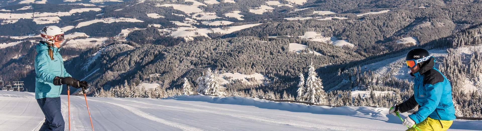 Winter im Lavanttal mit den Ski abfahren