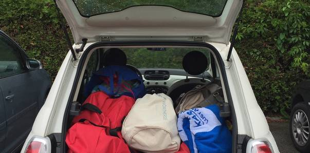 Mit dem Kärnten-Fiat unterwegs
