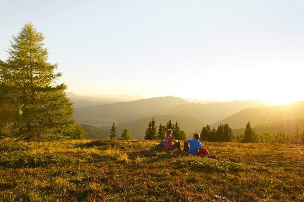 <p>Wandern am Alpe-Adria-Trail auf der Gerlitzen in der Region Villach</p>