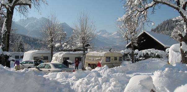Wintercamping in Kärnten, Camping Schluga