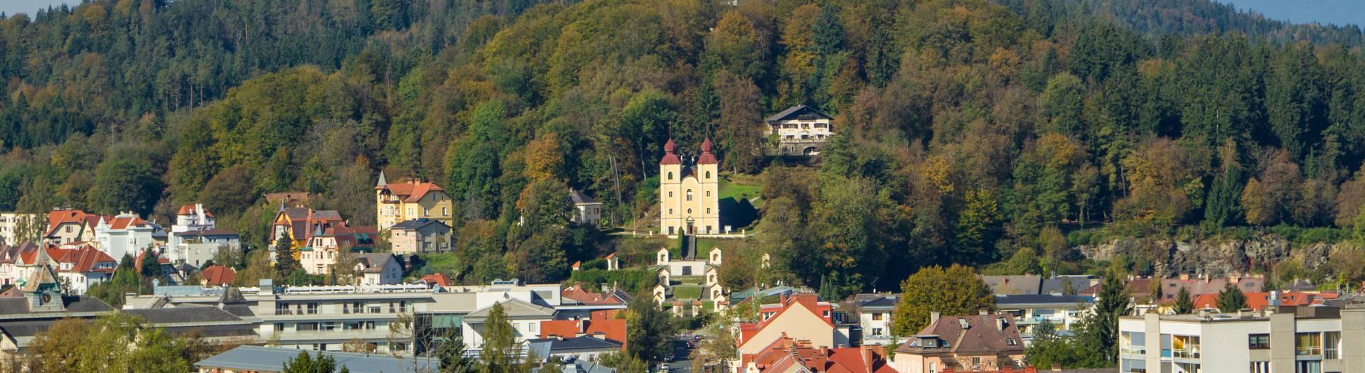 Klagenfurt Kreuzbergl mit Kreuzberglkirche