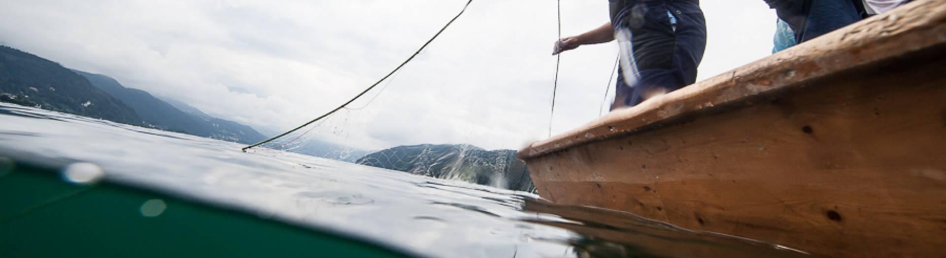 Anfischen am Millstätter See