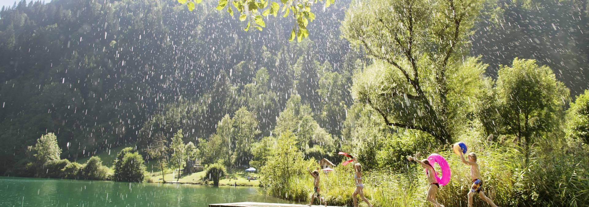 Afritzer See Sommerregen