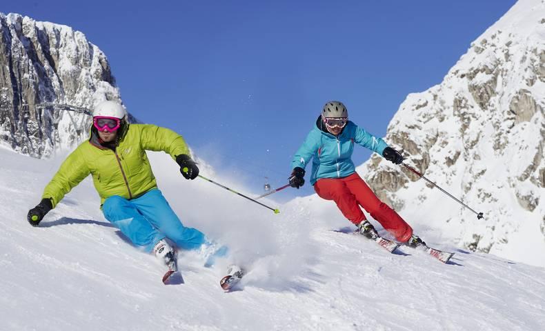 Skifahren am Nassfeld in Hermagor