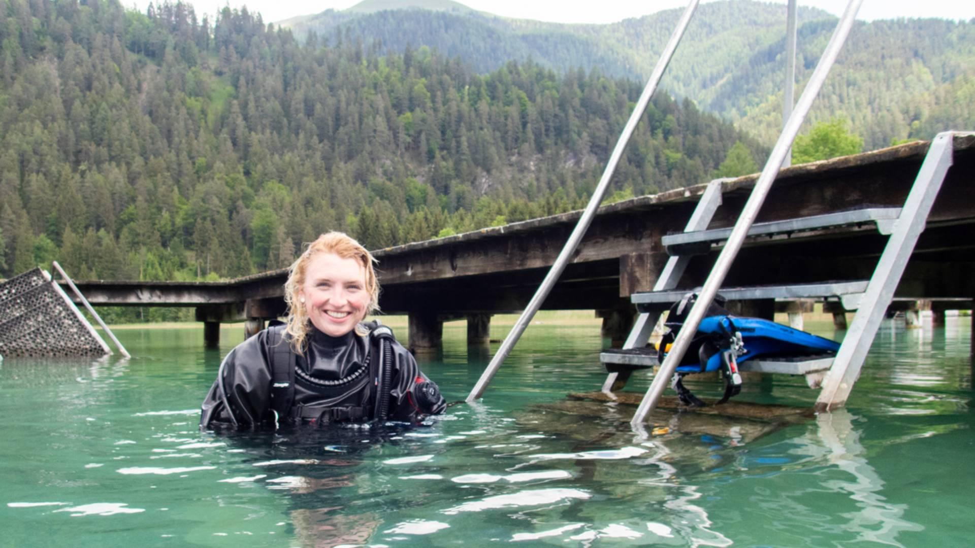 Tauchen im Ossiacher See, Viktoria Urbanek
