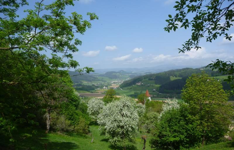 Blick auf das Granitztal im Lavanttal