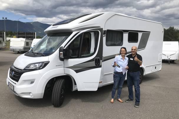 Urlaub im Wohnmobil von Ute Zaworka, Camping Falle in Villach, Herr Mabrouk