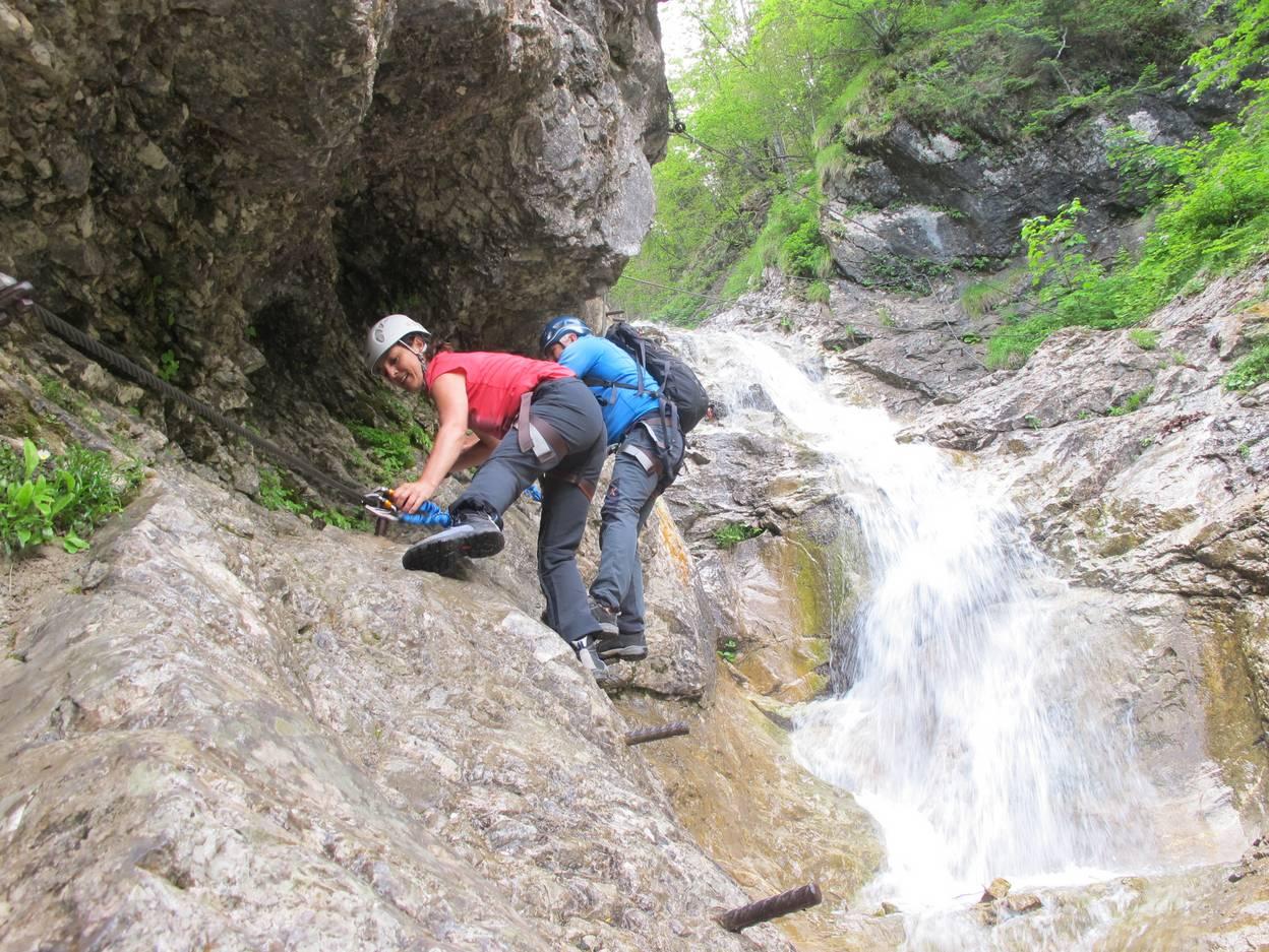 Campingurlaub Ute Zaworka, Die Rotschitza Klamm mit Bergführer Gerry Sagmeister