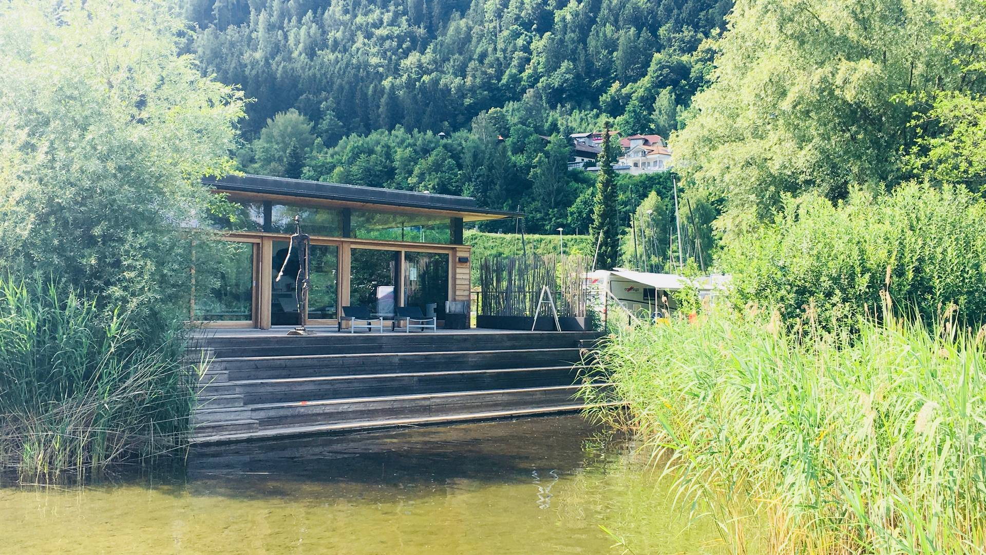 <p>Urlaub im Wohnmobil von Ute Zaworka, Camping Bad Ossiacher See</p>