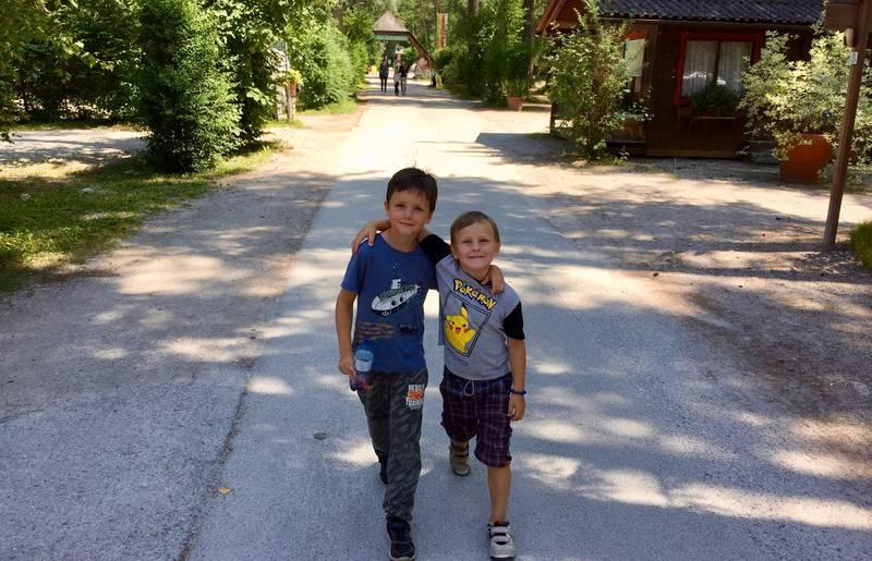 Die Jungs Moritz und Lorenz