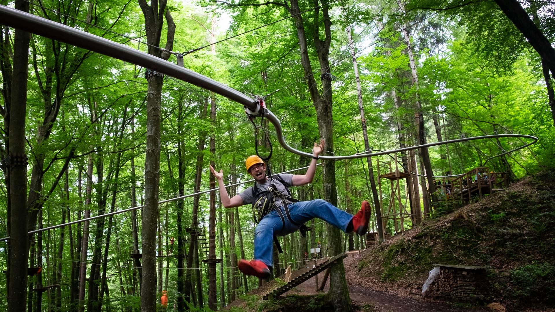 Kletterwald Ossiacher See - Die flyline