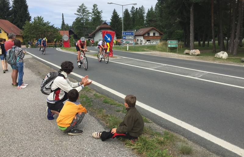 An der Ironman-Radstrecke