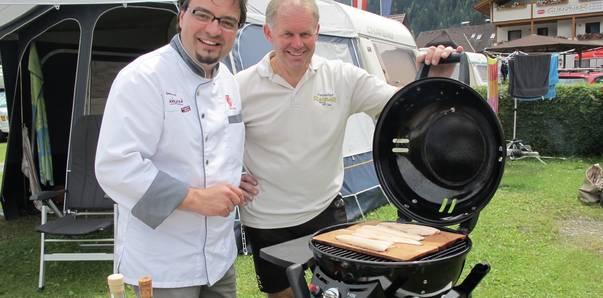 Grillen am Campingplatz Glinzner mit Marco Krainer