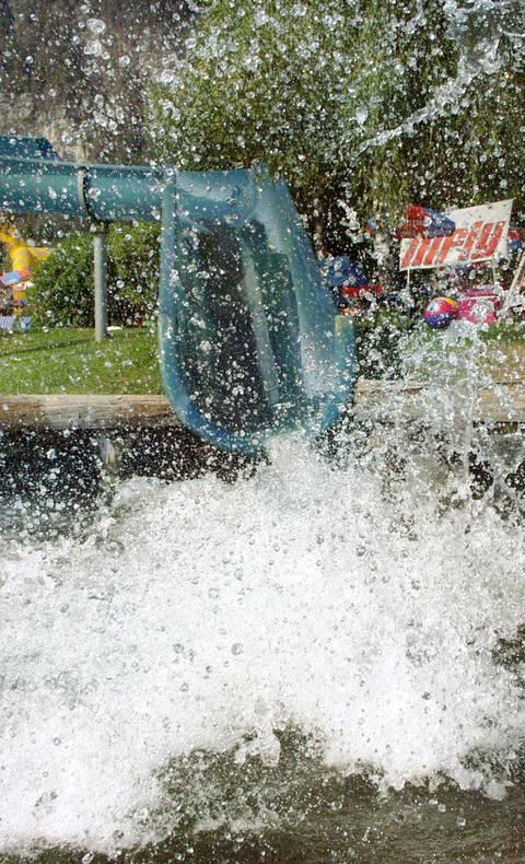 Riesen-Wasserrutsche im 1. Kärntner Erlebnispark am Pressegger See