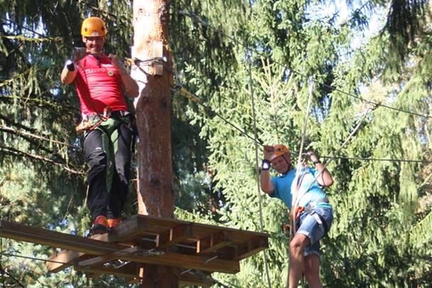 Kaernten AT Ausflugsziele Hochseilpark Walderlebniswelt Teambuilding 002