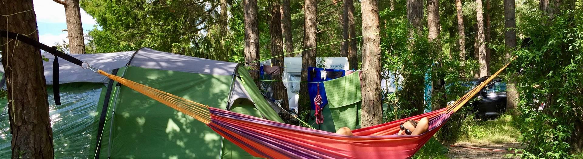 Am Camping Anderwald relaxen